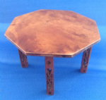 267. Octagonal Table (fretwork legs)
